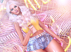 Summertime (RoxxyPink) Tags: roxxypink roxxy pink fashionuschies fashion uschies fashionblog blog fashionblogger blogger blogging blogspot secondlifeblog secondlifeblogger secondlife second life 2ndlife sl virtuallife virtual virtualworld world avatar ava avi style styling mesh meshhead head meshhair hair besom blond blonde sexy girl cute makeup idtty justmagnetized just magnetized blueberry gshot junkfood food junk meshbody body maitrey accessevent event fair access c88 plasticdolls doll dolls shape shapes drink clothes clothing amarabeauty amara beauty