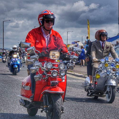 Scooterist, Morecambe Scooter Rally 2019