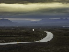 The road home. (olafur gudmundsson) Tags: road iceland night sommer þingvellir sumar car sky