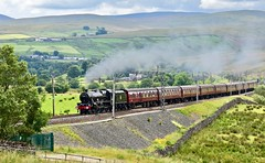 Cumbrian Mountain Express Greenholme Cumbria 13th July 2019 (loose_grip_99) Tags: greenholme shap tebay cumbria northwest england uk train railway railroad rail bank gradient smoke steam engine locomotive transportation cumbrianmountainexpress mainline lms stanier 5xp jubilee 460 leander gassteam uksteam trains railways july 2019