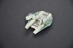 $ Millenium Falcon S (morpheology) Tags: moneygami money dollar origami star wars millennium falcon freighter blockade runner ship fighter