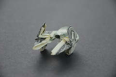 $ Jedi Starfighter Actis-2 S (morpheology) Tags: moneygami dollar money origami star wars jedi starfighter actis