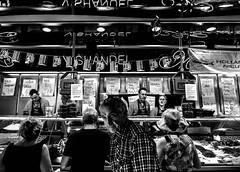 The Fish Stall (MikeTheExplorer) Tags: ghent gand gent belgium belgique belgië europe europa travel traveling traveler wanderlust traveller travelling explore discover fujifilm fujifilmxt100 camera composition monochrome blackandwhite bw