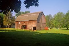 Barn & Shade (stephen.michaels) Tags: canoneos55 canonef28135mmf3556isusm barn agriculture farm shade trees grass kodakgold200