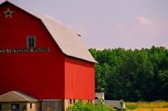 Twin Silo Stock Farm (stephen.michaels) Tags: canoneos55 canonef28135mmf3556isusm barn agriculture farm trees kodakgold200