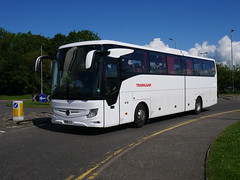 Shaw of Carnforth, The Travellers Choice, operating Evobus of Coventry's Mercedes Benz Tourismo Base BV19YLS at Edinburgh Airport on 6 June 2019. (Robin Dickson 1) Tags: busesedinburgh mercedesbenztourismobase bv19yls trafalgartours evobusofcoventry shawofcarnforth thetravellerschoice