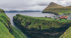 Gjogv (freyavev) Tags: gjogv faroeislands visitfaroeislands atlanticocean gorge green greenery atlantic islands eysturoy nature hiking vsco canon canon700d panorama mikasniftyfifty europe