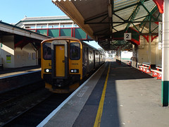 150219 Paignton (2) (Marky7890) Tags: gwr 150219 class150 sprinter 2f13 paignton railway devon rivieraline train