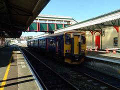 150219 Paignton (1) (Marky7890) Tags: gwr 150219 class150 sprinter 2f13 paignton railway devon rivieraline train