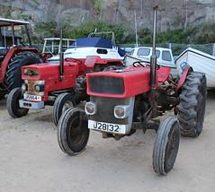 Harbour Tractors, Greve de Lecq (timothyhart) Tags: jersey channelislands uk greatbritain island sea ocean leisure holiday sunshineisland july 2019 summer masseyferguson 135