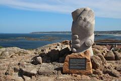 Saint Malo catamaran Memorial, La Corbiere Lighthouse (timothyhart) Tags: jersey channelislands uk greatbritain island sea ocean leisure holiday sunshineisland july 2019 summer lacorbiere lighthouse