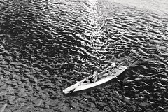 Lakescape (RADfotoX) Tags: dogwood dogwoodweek20 dogwood2019 dogwood2019week20 dogwood52 dogwood52week20 negative space landscpae lakescape lake rowing kayak relaxing relax water river monochrome black white