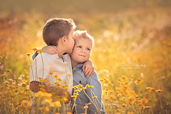 Brothers (nicolewitschass) Tags: boy boys brothers summer sun evening light flowers yellow magical cute sweet children child kids childrenphotography childrenphotographer momtogropher nikon d750 outdoors nature sunset golden smile family familyphotography heireloom portrait germany leonberg stuttgart nicolewitschass nicolewfotografie photographer sommer sonne blumen bluemenwiese fotograf