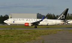SAS LN-RRE, OSL ENGM Gardermoen (Inger Bjørndal Foss) Tags: lnrre sas scandinavian boeing 737 osl engm gardermoen