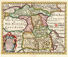 კავკასიის რუკა Map of the Caucasus (csem_archives) Tags: georgie caucasus sanson