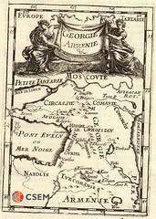 საქართველოს და სომხეთის რუკა Georgia & Armenia (csem_archives) Tags: georgie armenie caucasus mallet