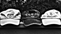 193/365 Three Caps (OhWowMan) Tags: ohwowman nikon nikkor d3300 acdseepro9 blackandwhite blackwhite bw black white monochrome my2019challenge 365project animageaday dailyphotography 365the2019edition 3652019 day193365 12jul19