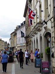 Cirencester ... droopy flag. (bazzadarambler) Tags: cirencester gloucestershire cotswolds july