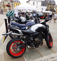 Cirencester ... motorcycle selection. (bazzadarambler) Tags: cirencester gloucestershire cotswolds july