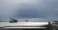 Maasmond (kees torn) Tags: hoekvanholland maasmond nieuwewaterweg elite paxi containerschepen
