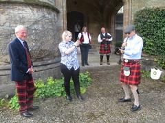 Castle Entrance (cessna152towser) Tags: caprington kilmarnock cunningham kilt tartantrews tartan