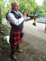 Blowing the Horn (cessna152towser) Tags: caprington kilmarnock cunningham kilt