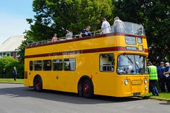 184 CRU184C (PD3.) Tags: daimler fleetline 184 cru184c cru 184c bus buses psv pcv bournemouth dorset england uk rapt group yellow open top topper topless
