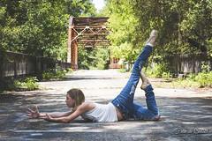 Reach (Francine Chabot) Tags: dancelife dancephotography reachforyourdreams nikond810 nikon85mmf18 suwaneesprings bridge nature abandonedbridge portrait creativekidsphotography
