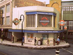 Kennington Cross Underground Station (kingsway john) Tags: londontransportmodel underground station charles holden northern line model card kit kingsway models 176 scale oo gauge tram layout figures