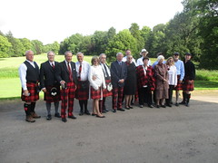 Clan Cunningham Line Up with the Chief (cessna152towser) Tags: caprington kilmarnock cunningham kilt tartantrews