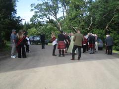 Assembling at Caprington (cessna152towser) Tags: caprington kilmarnock cunningham kilt tartan