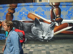 Miaow (cessna152towser) Tags: cat mural glasgow