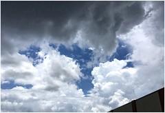 Just Before the Downpour   Marietta, Georgia (steveartist) Tags: clouds skies darkclouds iphonese snapseed stevefrenkel cumulusclouds mariettaga rainclouds building