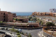 Sandos San Blas Hotel, Tenerife, Canary Islands (wildhareuk) Tags: canaryislands canon canoneos500d car road sea spain tamron18270mm tenerife tenerife2019 water building streetlamp tamron img9550dxo