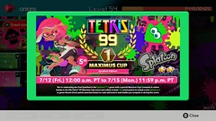 Splatoon-themed Tetris 99 Maximus Cup is Underway! (fbtb) Tags: maximuscup splatoon2 tetris99