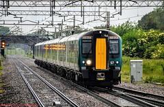350254 @ Acton Bridge (A J transport) Tags: class350 desiro 350254 emu eletric wcml railway trains passenger train track wires rain england