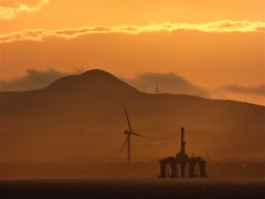 Power (Tobymeg) Tags: panasonic dmcfz72 old power verses new save planet oil turbine sunset firth forth scotland