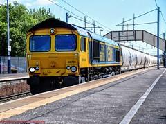 66739 @ Holytown (A J transport) Tags: class66 diesel locomotive 66739 shed railway gbrf freight railways trains track scotland nikkon d5300 dlsr