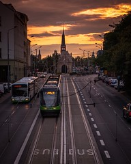Yesterday evening ⛅️ (stettiner.graf) Tags: evening xt1 fuji polen poland polska fujifilm publictransport tram sunset vorpommern pommern zachodniopomorskie stettin szczecin