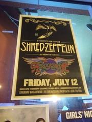 Shred Zeppelin and Aerocksmith poster (c_nilsen) Tags: pacifica digital sanmateocounty california bar longboardmargaritabar music poster shredzeppelin aerocksmith advertising cameraphone