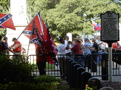 Again the South has risen. (Just Back) Tags: pride ridiculous history losers forgotten wat southerners stubborn rebels confederate secession rebellion sc southcarolina flag politics freespeech firstamendment constitution heritage hate racism love peace weird confusion carolina