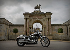 A Steel Horse I Ride... (Harleynik Rides Again.) Tags: 100th deuce harleydavidson gate myhouse wiltshire harleynikridesagain