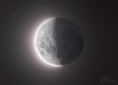 Moon and Da Vinci's Glow (Delberson Tiago) Tags: