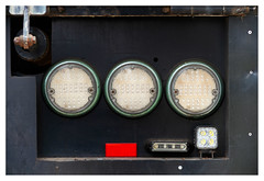Rear lights (leo.roos) Tags: trip lens compo 100 trio abstr meye cmount trio100 1936 moviecamera darosa cinelens trioplan10028 leoroos a7rii meyertrioplan10cm128 car truck lorry scania vrachtwagen rearlight achterlicht