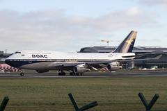 G-BYGC | British Airways  | Boeing B747-436 | CN 25823 | Built 1999 | DUB/EIDW 18/02/2019 | Departing EIDW after being painted in BOAC CS (Mick Planespotter) Tags: gbygc british airways boeing b747436 25823 1999 dubeidw 18022019 eidw cs 2019 jumbo b747 boac nik coillinstown ba