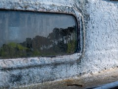 Reflet pins et bateau (Sylvie's Eye) Tags: bateaucapferretjanedeboylègenatimageboatheurebleue bateau capferret janedeboy lège natimage boat heurebleue reflection reflet reflets