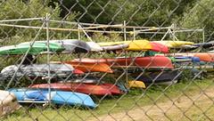 Canoe Storage (rq uk) Tags: rquk nikon d750 nikond750 afsnikkor70200mmf28efledvr 52weekschallenge2019 dintonpastures wokingham boats canoe racking fence storage