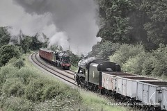 26th June 2019. 2 X 8F's at the GCR (Dangerous44) Tags: 8f 48305 minerals steam 48624 boxvan greatcentral gcr