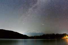 Shasta, Siskiyou, Sky (g-liu) Tags: night stars astrophotography mtshasta cascades northerncalifornia california usa longexposure landscape sky lake water lights lightpollution milkyway sony a6500 sigma 16mm wideangle
