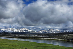 Yellowstone River (oldogs) Tags: river clouds mountains landscape wyoming